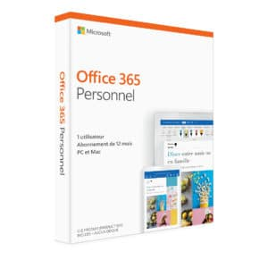 Microsoft office 365 Personnel PC ou Mac